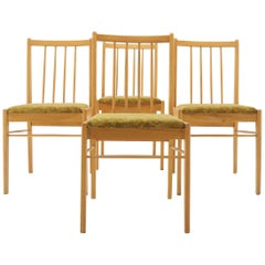 Set of 4, Midcentury Dining Chairs, 1970s, Czechoslovakia