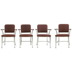 Set of 4 Midcentury Goodform Aluminum Armchairs by the General Fireproofing Co.
