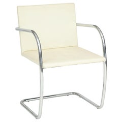Set of 4 Mies van der Rohe for Knoll Tubular Brno Chairs