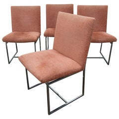 Set of 4 Milo Baughman Style Dining Chairs