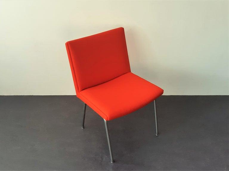 Mid-Century Modern Set of 4 Model Airport Dining Chairs by Hans Wegner for AP Stolen, Denmark For Sale