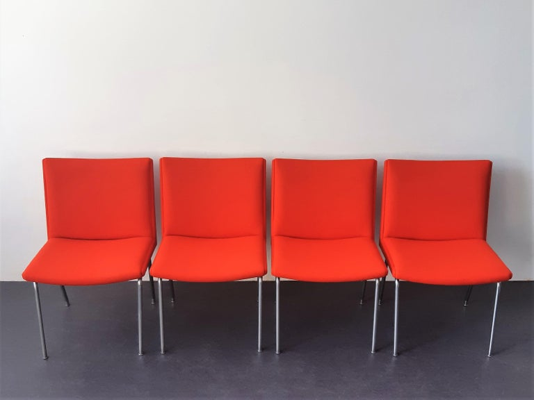 Mid-20th Century Set of 4 Model Airport Dining Chairs by Hans Wegner for AP Stolen, Denmark For Sale