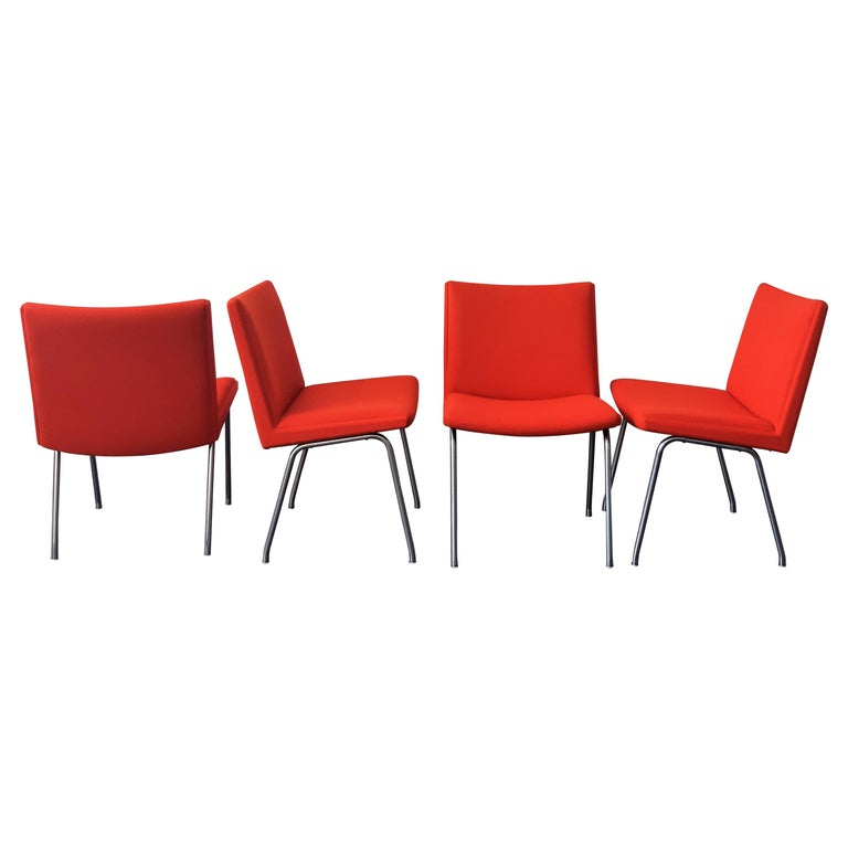 Set of 4 Model Airport Dining Chairs by Hans Wegner for AP Stolen, Denmark For Sale