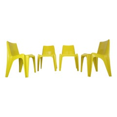 Set of 4 Model BA 1171 Chairs by Helmut Bätzner for Bofinger, 1960s, Germany