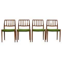 Set of 4 'Model No. 83' Dining Chairs by Niels O. Moller for J.L. Møllers