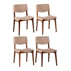Set of (4) Modern Dining Chairs by M.I.M., Italy, circa 1960