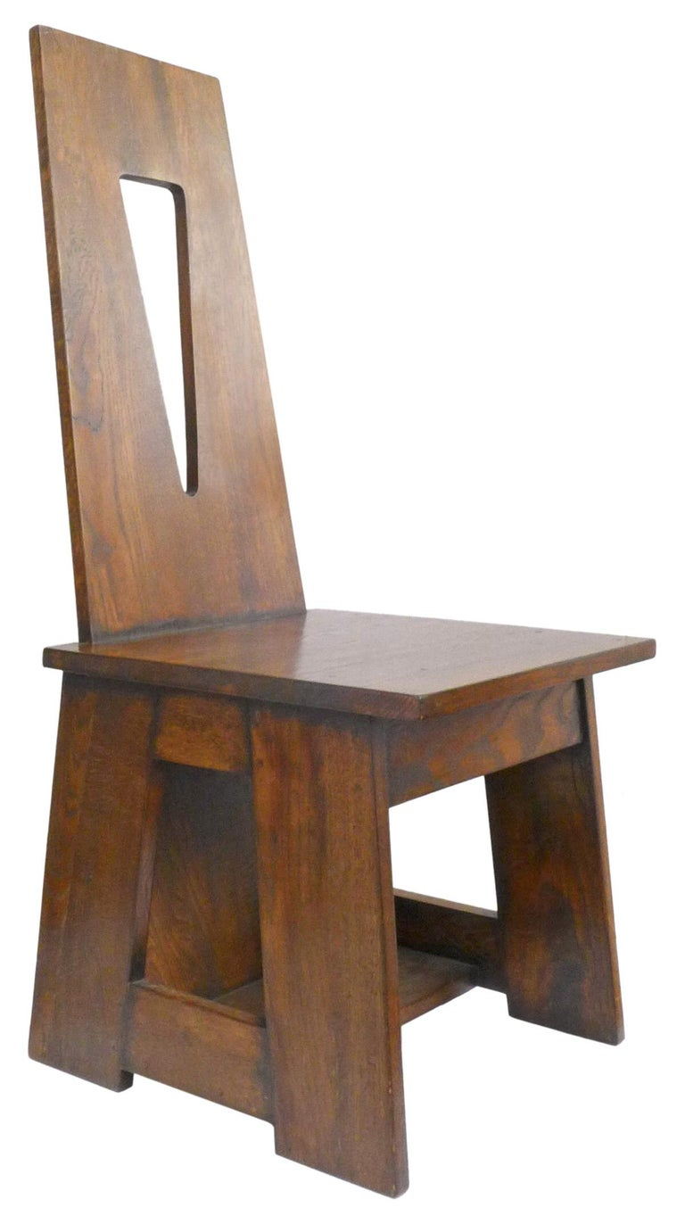 American Set of 4 Modernist Oak Dining Chairs For Sale