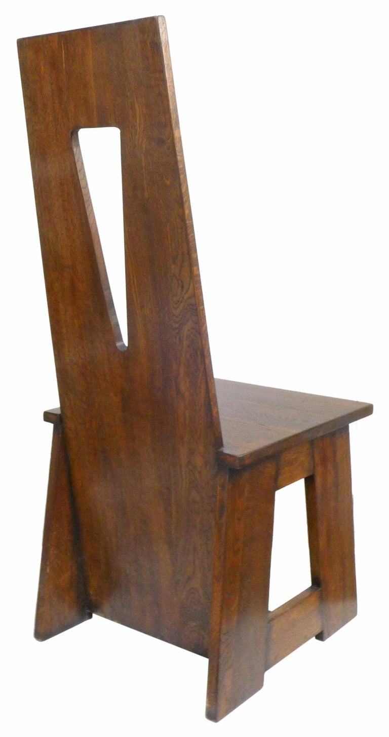 Joinery Set of 4 Modernist Oak Dining Chairs For Sale