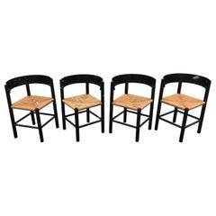 Set of 4 Mogens Lassen Corner Chairs 'model FH 4216', circa 1963