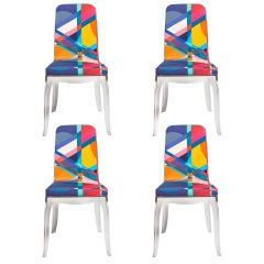 Set of 4 Moibibi Colorful Dining Chairs Designed by Marcel Wanders