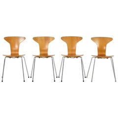 Set of 4 'Mosquito' Dining Chairs by A. Jacobsen for Fritz Hansen, Denmark 1950s
