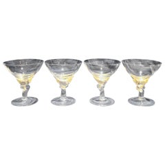 Set of 4 Murano Glass Desert Coupes or Champagne Flutes