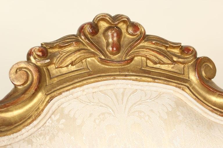 Set of 4 Napoleon III Giltwood Side Chairs For Sale 8