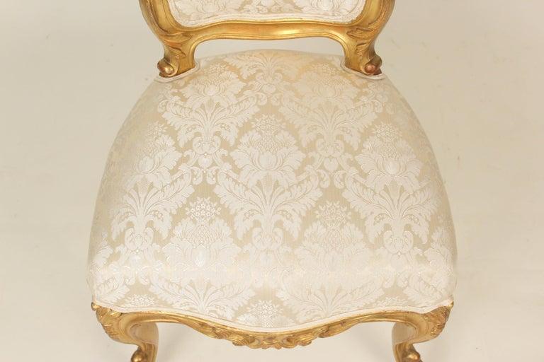 Set of 4 Napoleon III Giltwood Side Chairs For Sale 2