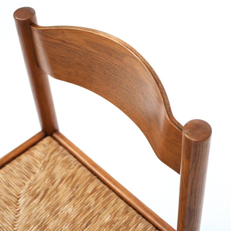 Set of 4 Natural Oak Dining Chairs Attributed to Vico Magistretti, 1960s For Sale 4