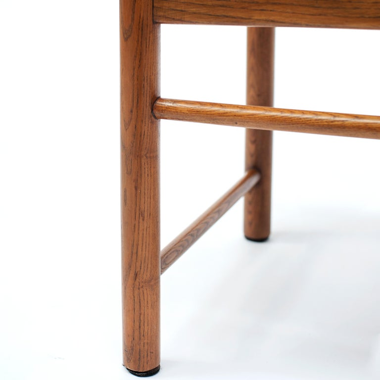 Set of 4 Natural Oak Dining Chairs Attributed to Vico Magistretti, 1960s For Sale 1