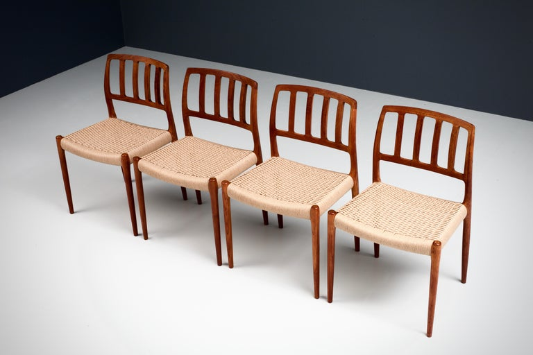 Danish Set of 4 Newly Upholstered Dining Chairs by Niels Otto Møller, Denmark, 1960s For Sale