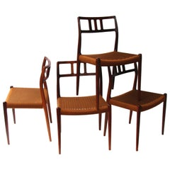 Set of 4 Niels Moller Rosewood Chairs Model 79