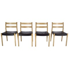 Set of 4 Niels Otto Møller Dining Chairs, Model 84 for JL Møllers Mobelfabrik
