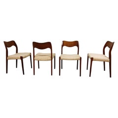 Set of 4 Niels Otto Møller Model 71 Dining Chairs, 1960s