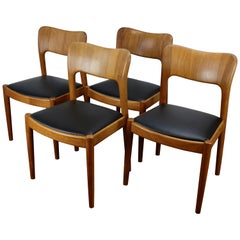 Set of 4 Ole Dining Chairs by John Mortensen for Koefoeds-Hornslet