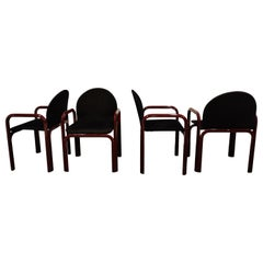 Set of 4 Orsay armchairs by Gae Aulenti for Knoll, 1970s