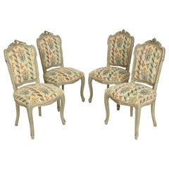 Set of 4 Painted Louis XV Style Side Chairs