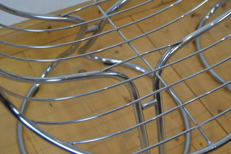 Set of 4 Pan Am Armchairs, Chrome, 1960s For Sale 3