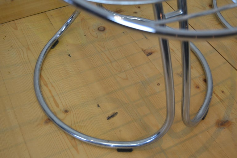 Set of 4 Pan Am Armchairs, Chrome, 1960s For Sale 4