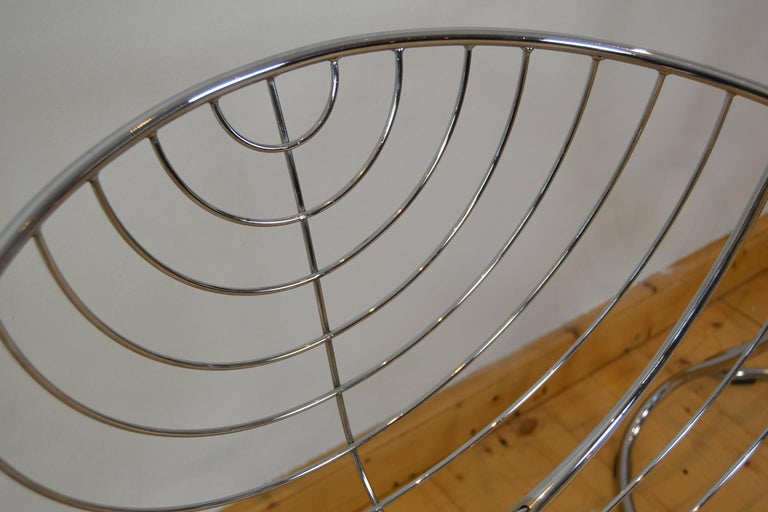 Set of 4 Pan Am Armchairs, Chrome, 1960s For Sale 5