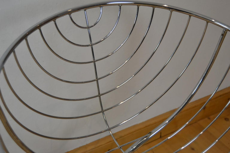 Set of 4 Pan Am Armchairs, Chrome, 1960s For Sale 10