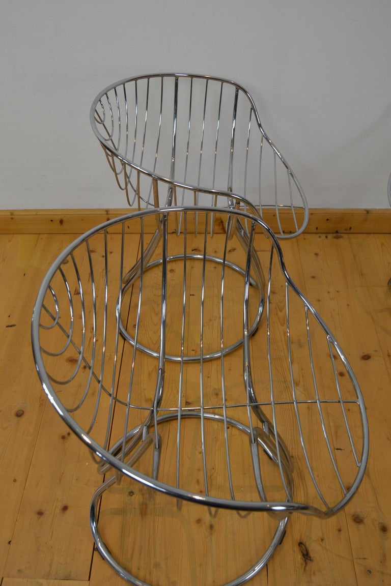 Set of 4 Pan Am Armchairs, Chrome, 1960s In Good Condition For Sale In Antwerp, BE