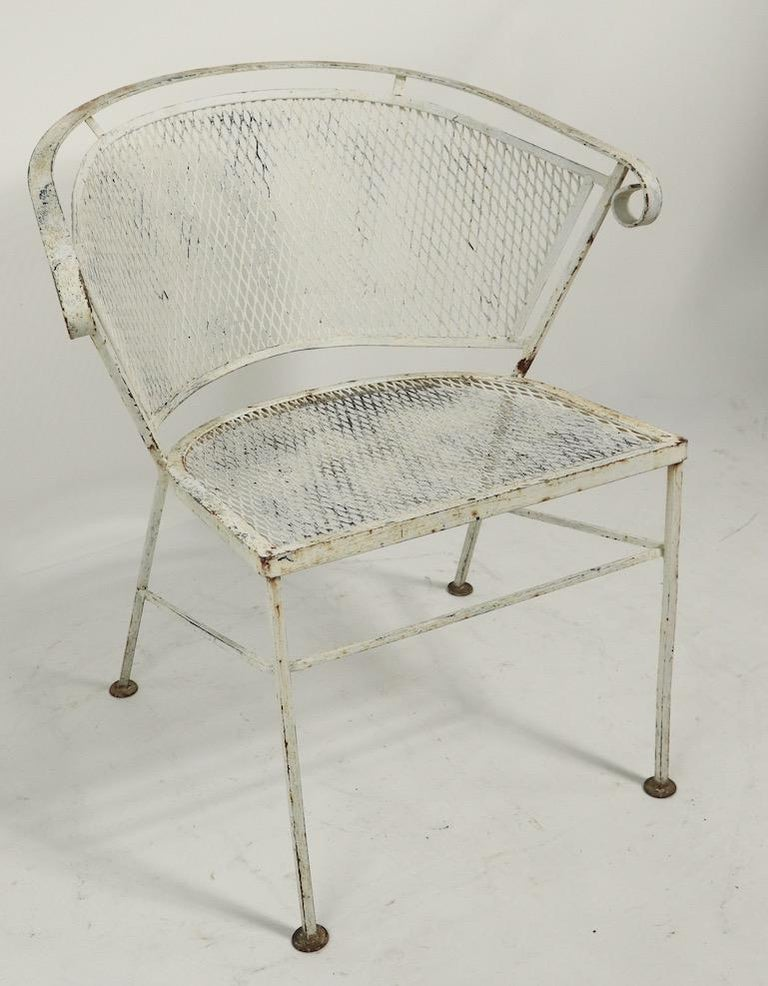 Set of 4 Patio Garden Dining Chairs Attributed to Salterini For Sale 3