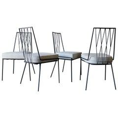 Set of 4 Paul McCobb Pavilion Iron Dining Chairs, circa 1955