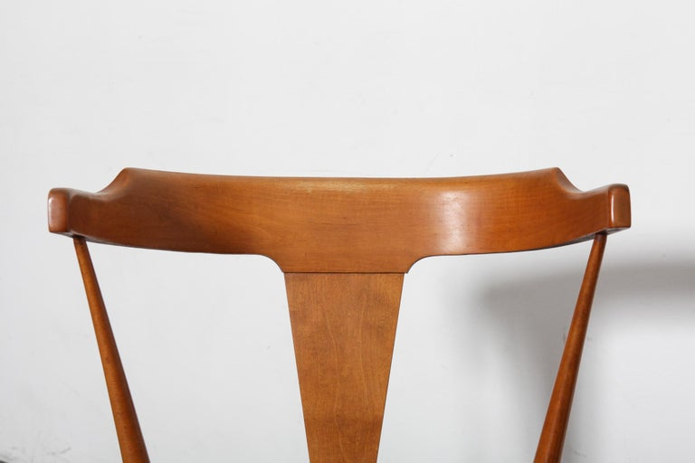 Set of 4 Paul McCobb Planner Group Series Spindle Back Dining Chairs In Good Condition For Sale In North Hollywood, CA