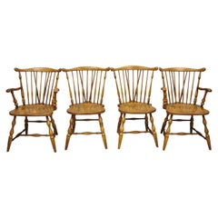Set of 4 Pennsylvania House Rock Maple Wood Colonial Windsor Dining Chairs