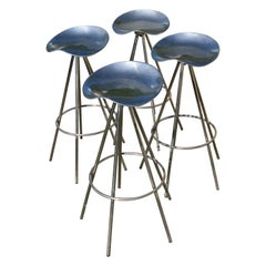 Set of 4 Pepé Cortes Stools Model Jamaïca Edition Amat, 1990