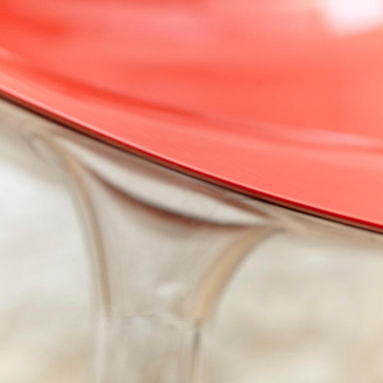 Set of 4 Philippe Starck Impossible Chair Red by Kartell, circa 2008 For Sale 6
