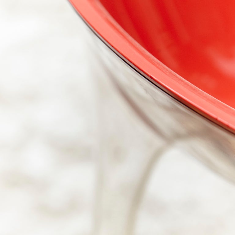 Set of 4 Philippe Starck Impossible Chair Red by Kartell, circa 2008 For Sale 7