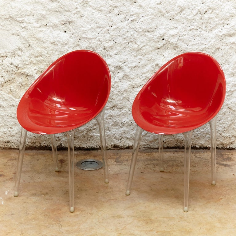 Set of 4 Philippe Starck impossible chair manufactured by Kartell, circa 2018  Measures: H 84 x W 55 x D 60 cm.
