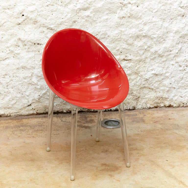 Set of 4 Philippe Starck Impossible Chair Red by Kartell, circa 2008 In Good Condition For Sale In Barcelona, Barcelona