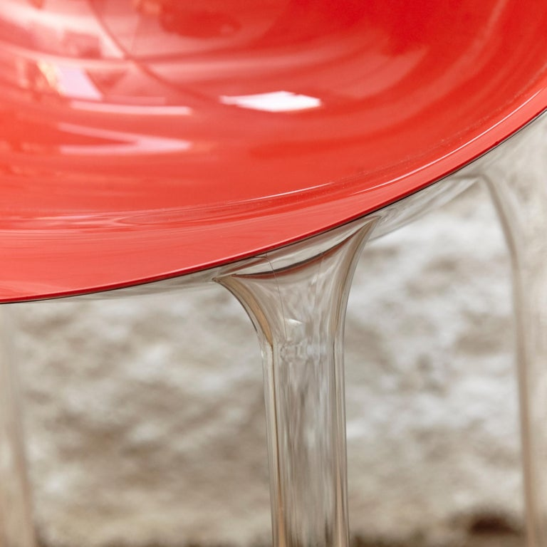 Plastic Set of 4 Philippe Starck Impossible Chair Red by Kartell, circa 2008 For Sale