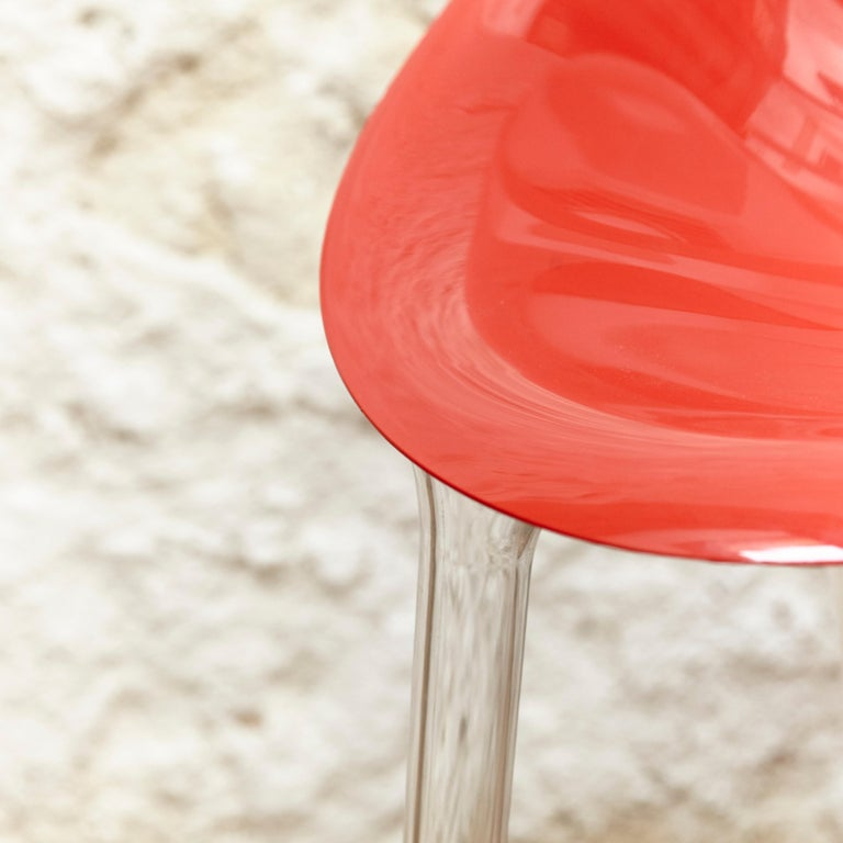 Set of 4 Philippe Starck Impossible Chair Red by Kartell, circa 2008 For Sale 1