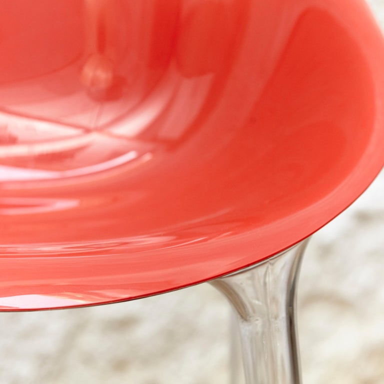 Set of 4 Philippe Starck Impossible Chair Red by Kartell, circa 2008 For Sale 2