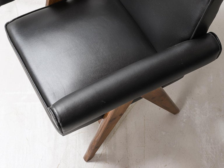 """Set of 4 Pierre Jeanneret """"Office Chair"""", circa 1959-1960 For Sale 6"""