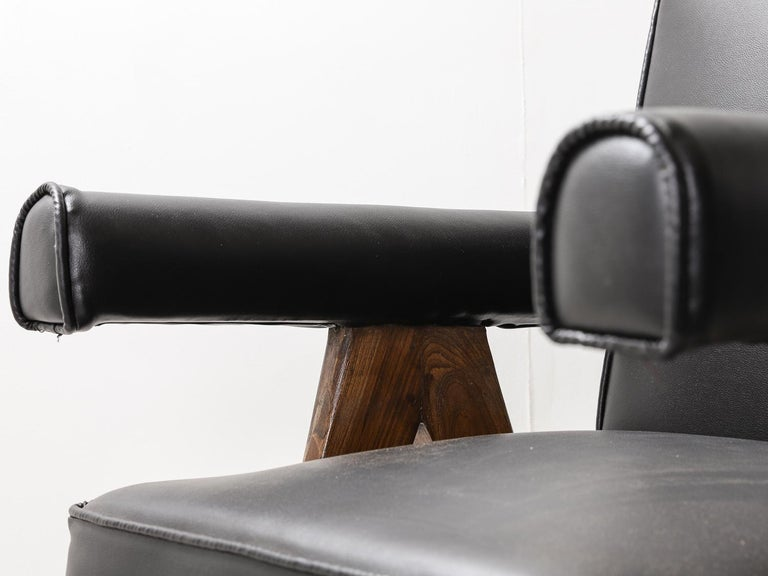 """Set of 4 Pierre Jeanneret """"Office Chair"""", circa 1959-1960 For Sale 9"""