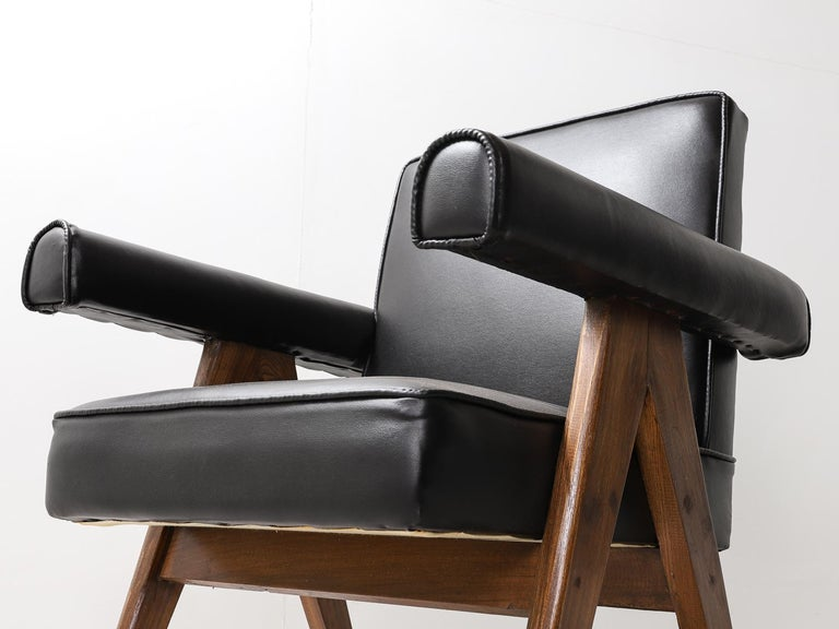 """Set of 4 Pierre Jeanneret """"Office Chair"""", circa 1959-1960 For Sale 11"""