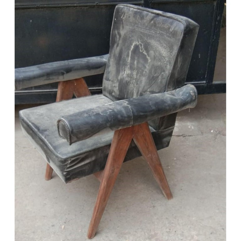 """Set of 4 Pierre Jeanneret """"Office Chair"""", circa 1959-1960 For Sale 13"""