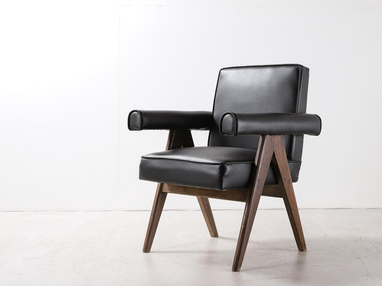 """Indian Set of 4 Pierre Jeanneret """"Office Chair"""", circa 1959-1960 For Sale"""