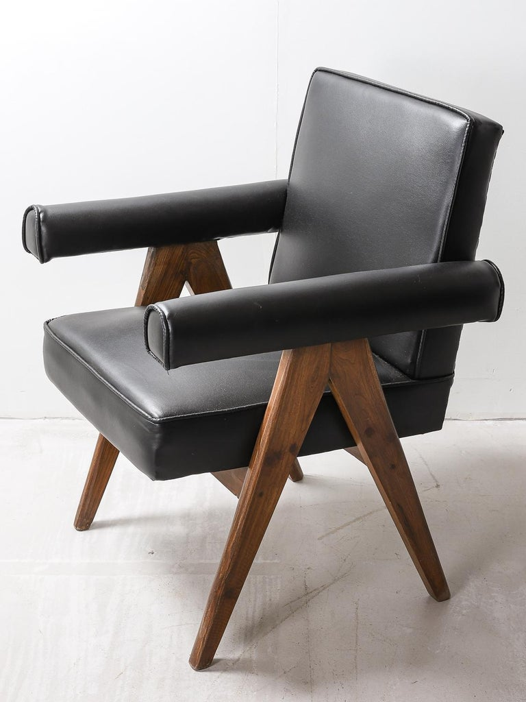 """Mid-20th Century Set of 4 Pierre Jeanneret """"Office Chair"""", circa 1959-1960 For Sale"""